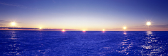 Midnight sun, Amery Ice Shelf